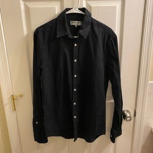 American Apparel  button down black denim shirt